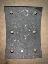 Накладка тормозная передняя JAC ДЖАК N75 (с отверст.)(без асбеста), шт